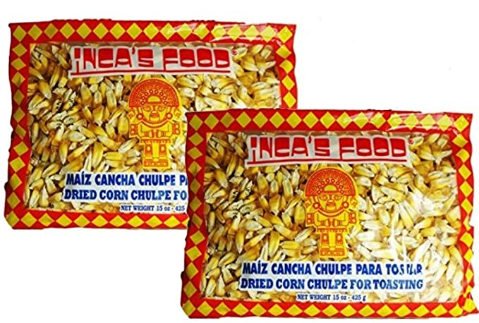 Maiz cancha chulpe in bags