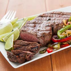 Andrea Meyers - Beef Fajitas with Lime Beer Marinade