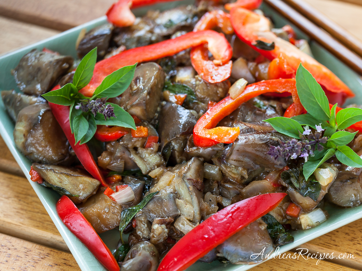 Spicy Thai-Style Eggplant - Andrea Meyers