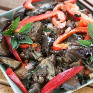 Spicy Thai-Style Eggplant