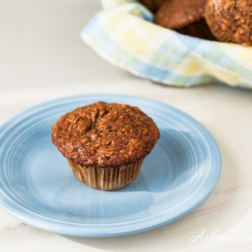 Whole Wheat Zucchini Morning Glory Muffins - Andrea Meyers