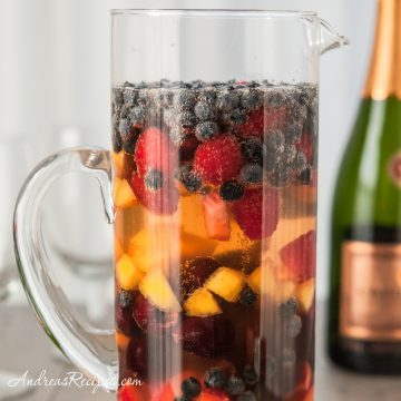 Fruity Sparkling Summer Sangria - Andrea Meyers