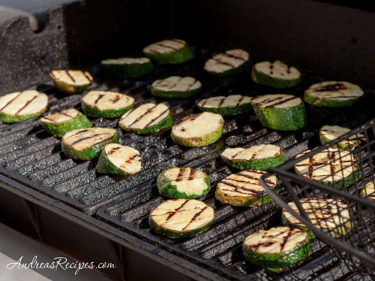 Grilling zucchini - Andrea Meyers