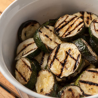 Grilled Zucchini with Herb Marinade (The Kids Cook Monday)
