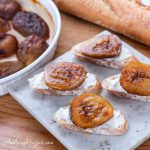 Roasted Balsamic Figs with Goat Cheese and Honey - Andrea Meyers