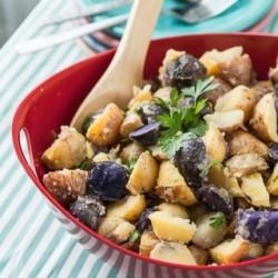 Baked Potato Salad Recipe with Vidalia Onion Vinaigrette - Andrea Meyers