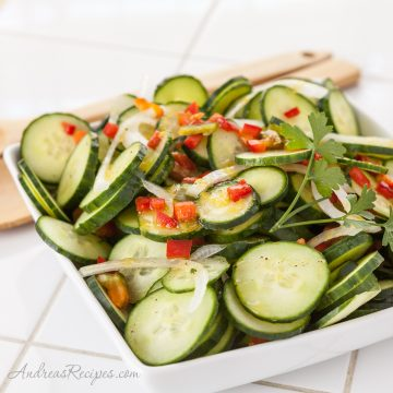 Lemon Cucumber Salad - Andrea Meyers