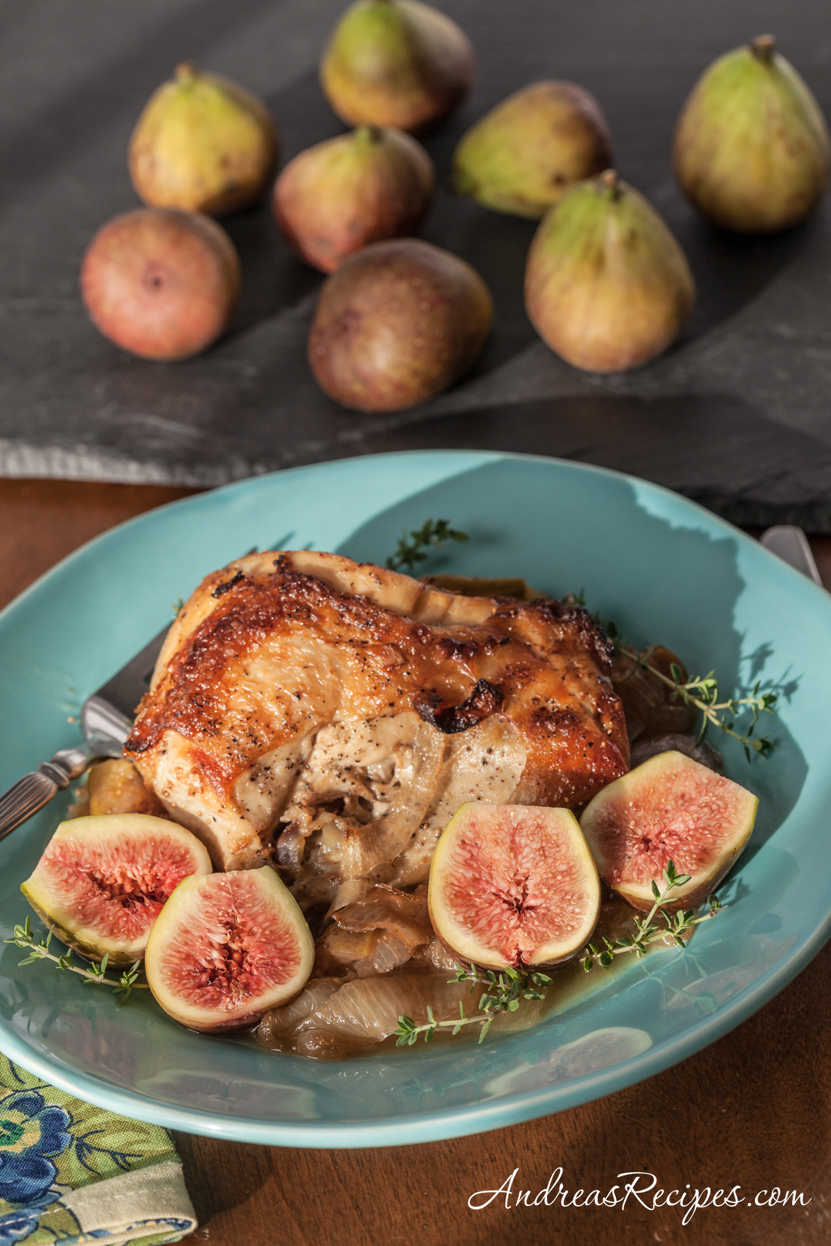 Chicken with Figs and Honey - Andrea Meyers