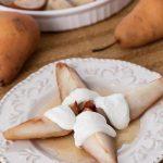 Cider Honey-Roasted Pears with Vanilla Greek Yogurt - Andrea Meyers