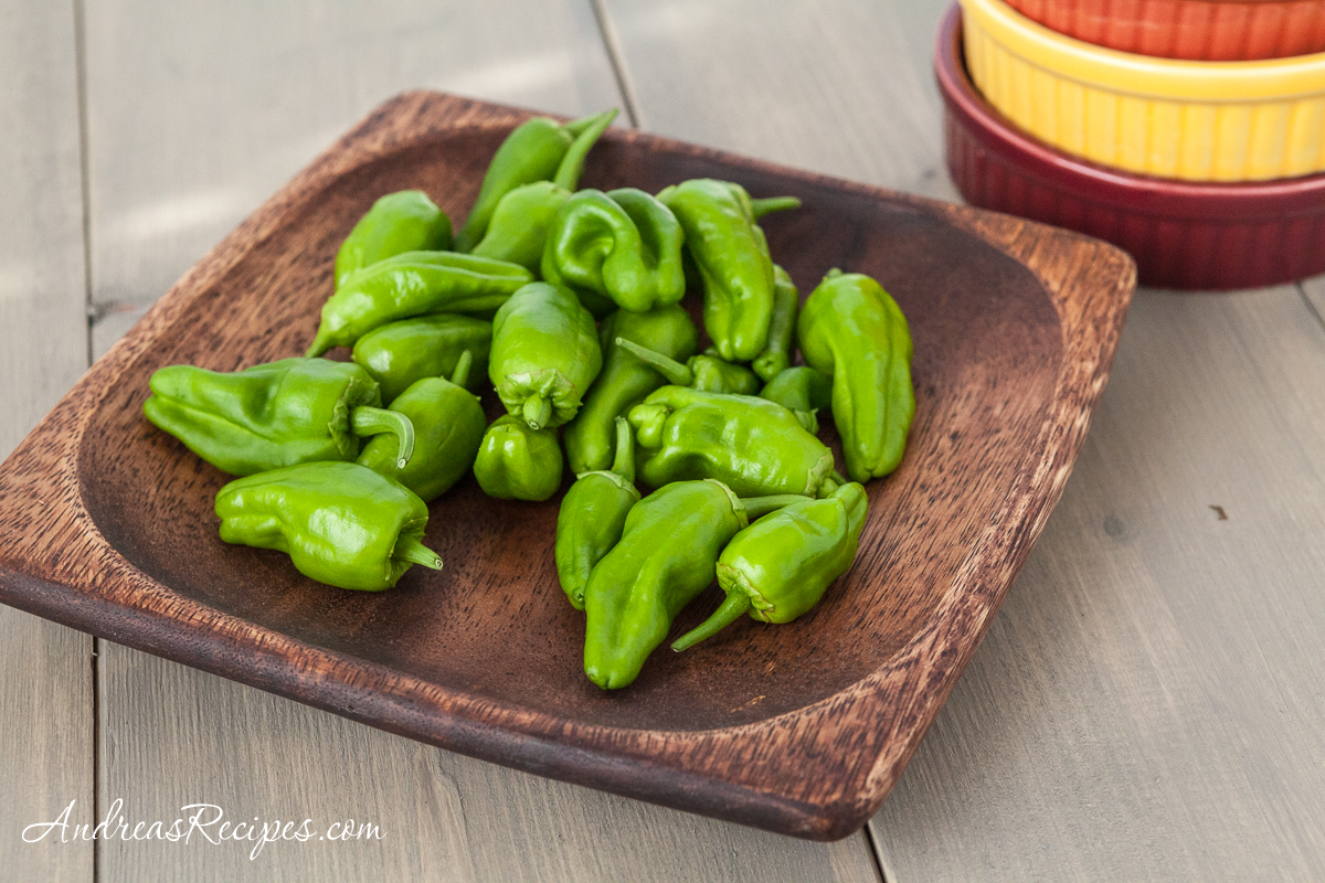 Padron peppers from our garden - Andrea Meyers