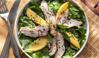 Thai Grilled Chicken Salad with Mango