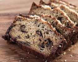 Banana Bread with Nutella and Hazelnuts