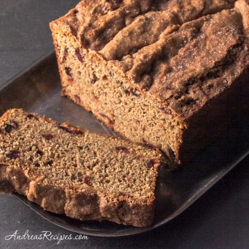 Whole Wheat Sweet Potato Bread with Cranberries - Andrea Meyers