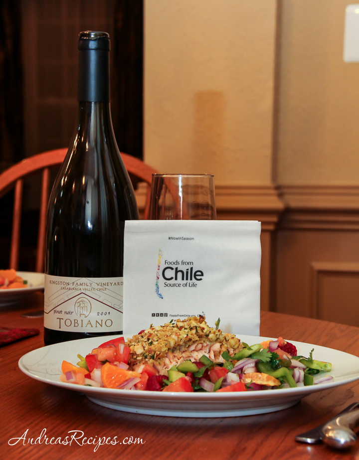 Chilean Almond-Crusted Salmon and Tobiano Pinot Noir - Andrea Meyers