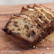 Banana Bread with Nutella and Hazelnuts - Andrea Meyers