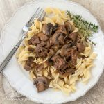 Steak Tips with Mushroom Pepper Gravy - Andrea Meyers