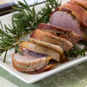 Roasted Bacon-Wrapped Pork Tenderloin - Andrea Meyers