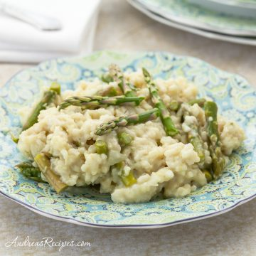 Asparagus Risotto - Andrea Meyers