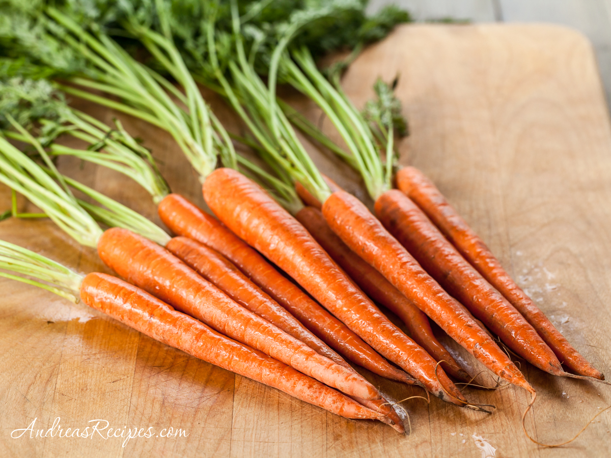 Carrots with green tops - Andrea Meyers