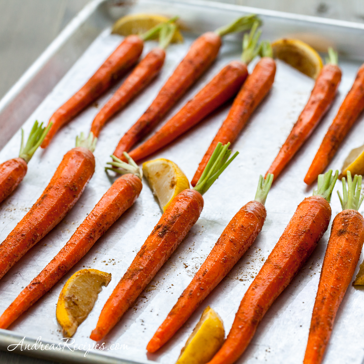 Roasted Carrots with Moroccan Spices - Andrea Meyers