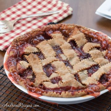 Strawberry Rhubarb Pie - Andrea Meyers