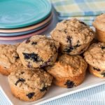Blueberry Muffins with Lemon and Yogurt - Andrea Meyers
