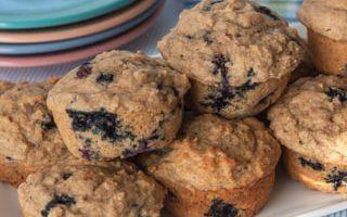 Blueberry Muffins with Lemon and Yogurt