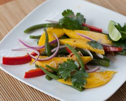 Green Bean Salad with Mango and Thai-Style Vinaigrette