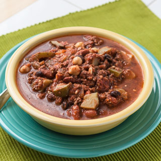 Meat and Summer Vegetable Chili (The Kids Cook Monday)
