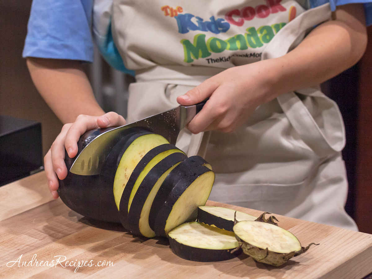 Slicing eggplant - Andrea Meyers
