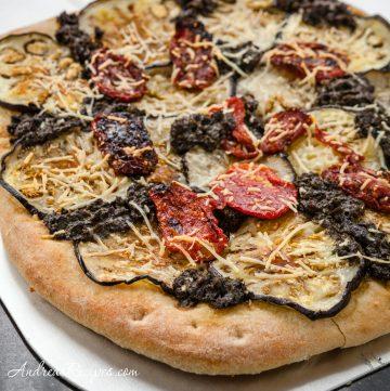 Eggplant and Sun-Dried Tomato Pizza - Andrea Meyers