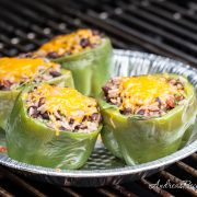 Vegetarian Grilled Mexican Stuffed Bell Peppers - Andrea Meyers