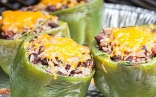 Vegetarian Grilled Mexican Stuffed Bell Peppers