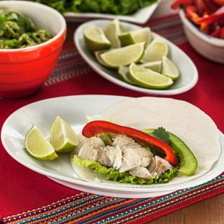 Fish and Bell Pepper Soft Tacos