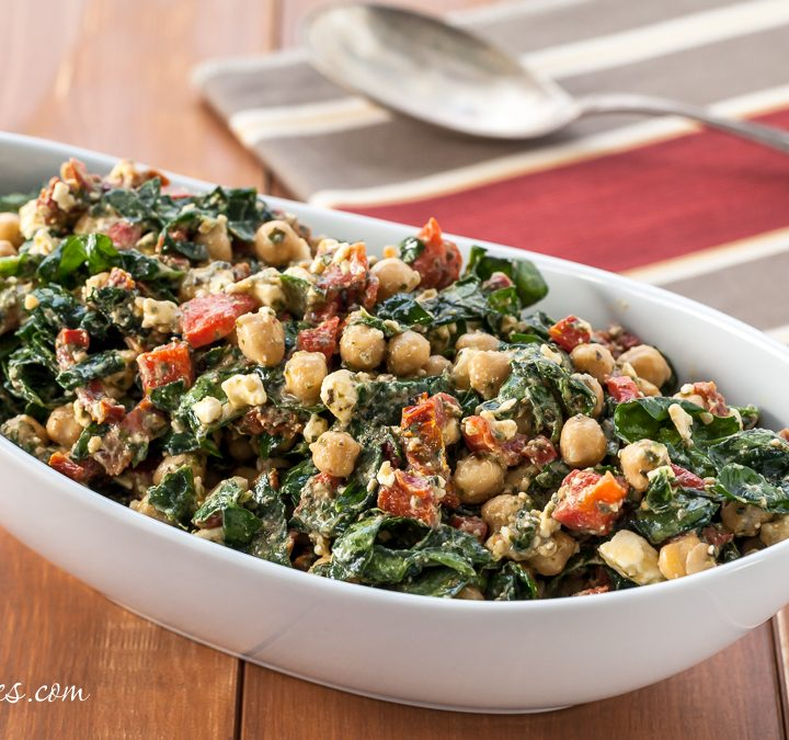Mediterranean Spinach and Bean Salad - Andrea Meyers