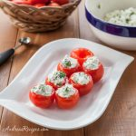 Campari Tomatoes Stuffed with Goat Cheese and Herbs - Andrea Meyers