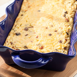 Mexican Corn Pudding with Fresh Corn