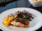 Moroccan Roasted Salmon Recipe with Mango Salsa and Quinoa Spinach - Andrea Meyers