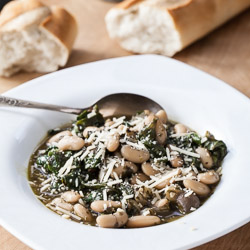 Tuscan Cannellini Beans Recipe with Mushrooms, Spinach, and Pesto - Andrea Meyers