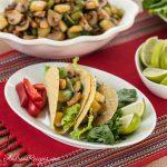 Mushroom and Zucchini Vegetarian Tacos - Andrea Meyers