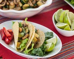Mushroom and Zucchini Vegetarian Tacos