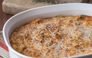 Butternut Squash and Parmesan Bread Pudding (The Kids Cook Monday)