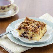 Eggnog Cranberry Bread Pudding - Andrea Meyers