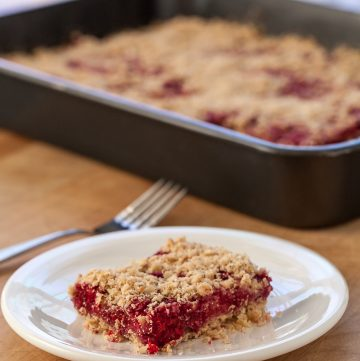 Raspberry Oatmeal Crumble Bars - Andrea Meyers