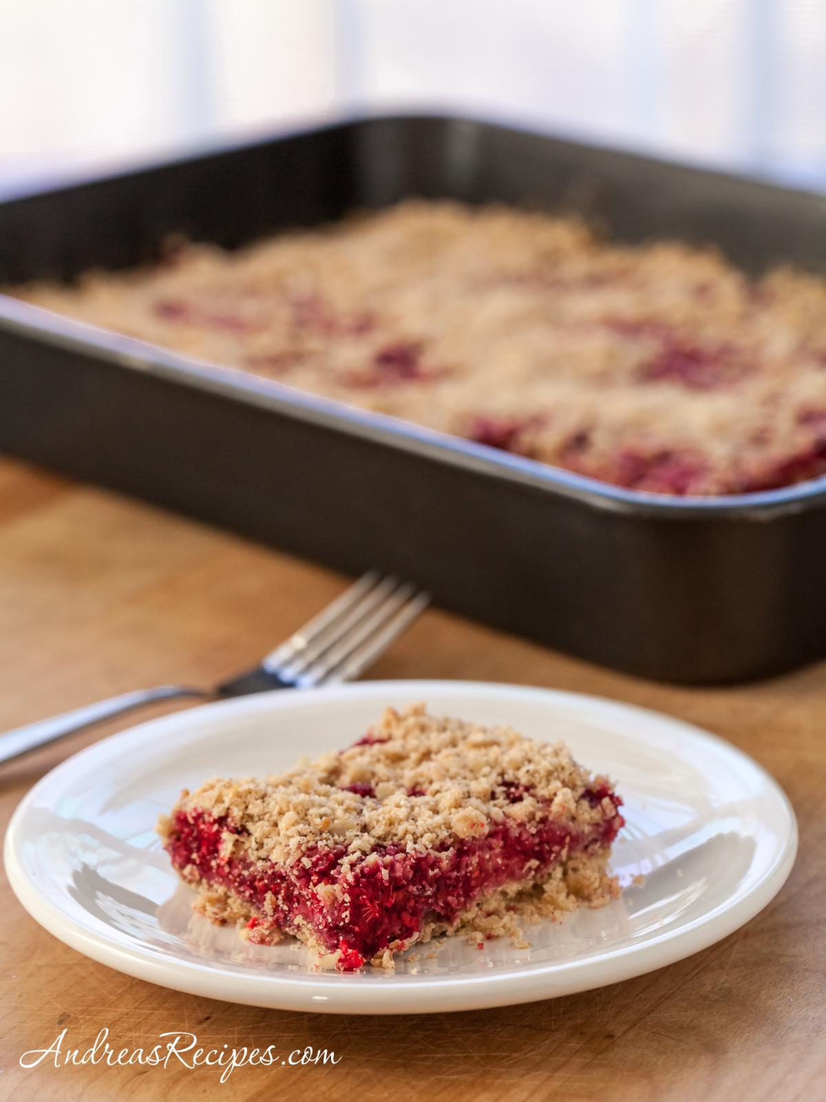 Raspberry Oatmeal Crumble Bars Recipe Andrea Meyers