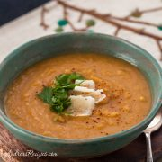 Creamy Sweet Potato and Leek Soup - Andrea Meyers