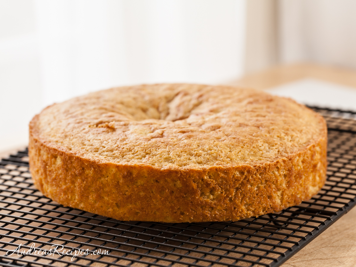 Meyer Lemon Polenta Cake with Winter Fruit Compote - Andrea Meyers
