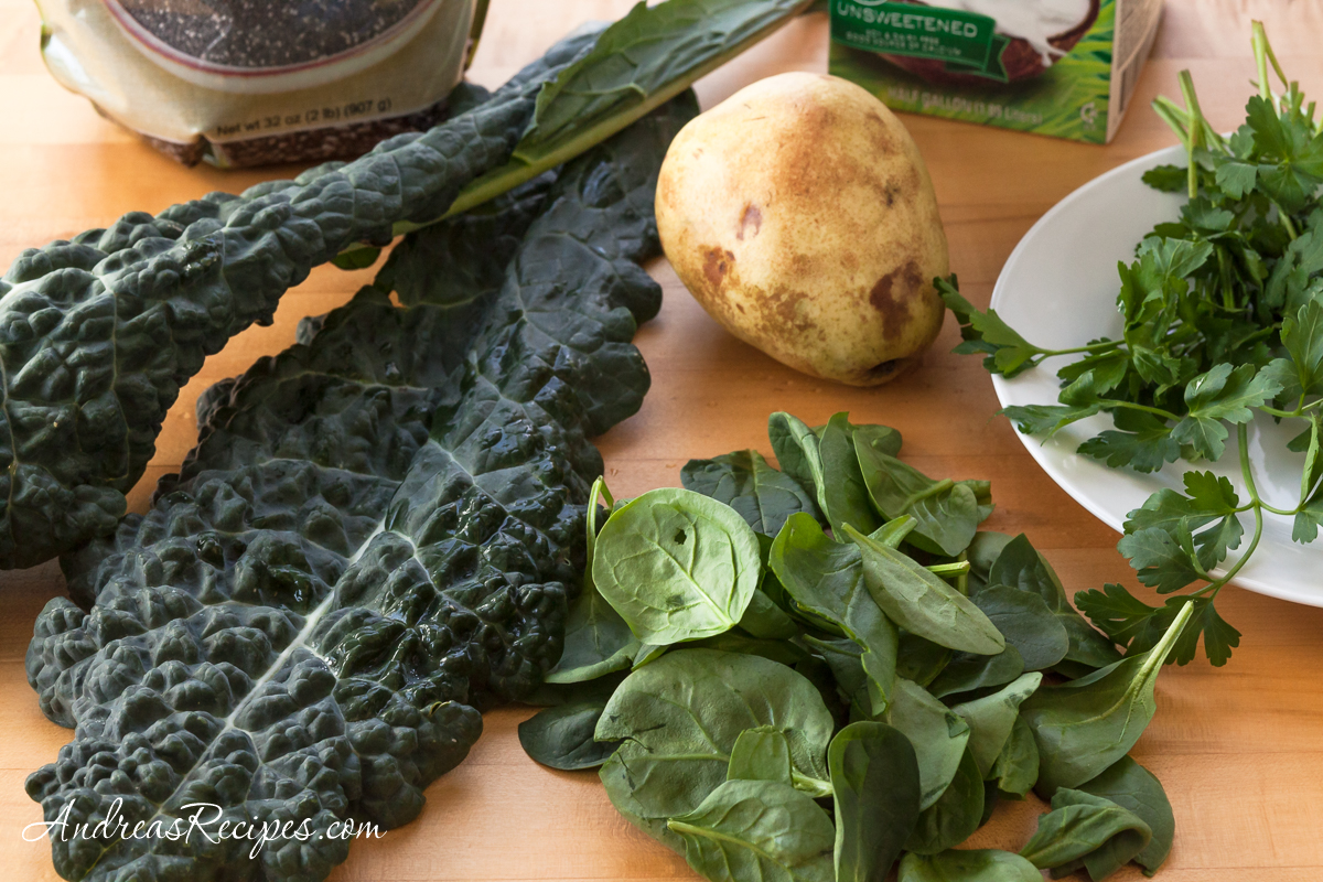 Kale, spinach, and pear for green smoothie - Andrea Meyers
