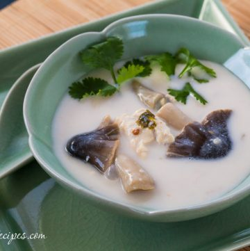 Thai Chicken Coconut Soup (Tom Kah Gai) - Andrea Meyers