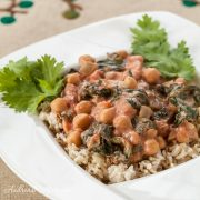 Chickpea Curry with Spinach and Tomatoes - Andrea Meyers